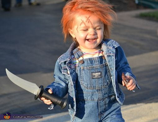 Chucky Doll Costume - Halloween Costume Contest via @costumeworks..............i think this is awesome!!!