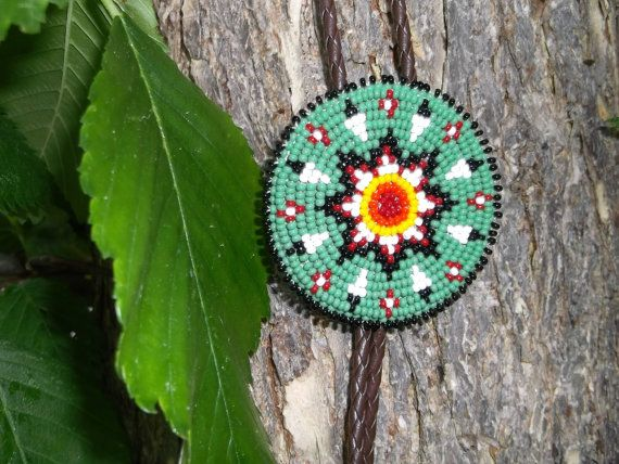 green bolo tie native american by deancouchie on Etsy, $69.95
