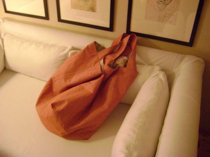 """Υφασμάτινη τσάντα διπλής όψης, για ψώνια, τη θάλασσα, το ταξίδι / Fabric """"double face"""" bag for shopping, the sea, the journey"""