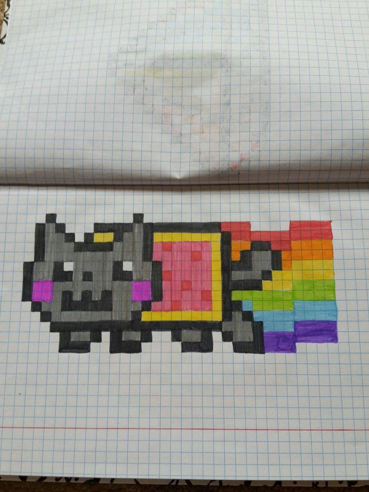 Pixel nine cat