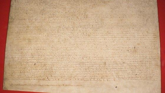800 Jahre Magna Charta - Man achte auf das Kleingeschriebene ...