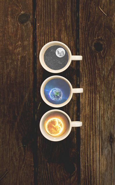 #space #earth #moon #sun #coffee