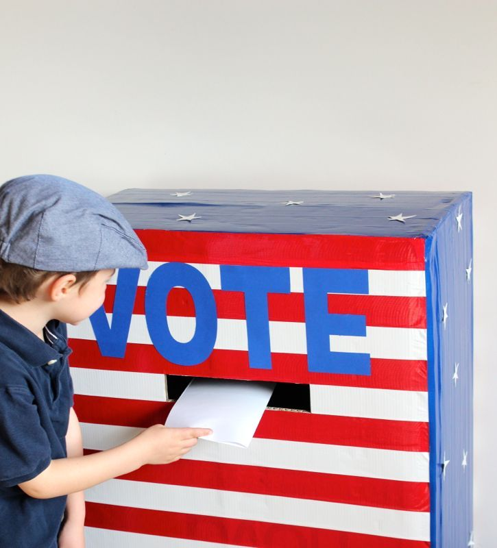 Election Day. Voting Booth. Vote. Red, white and blue. patriotic. america. stars and stripes. voting for kids. DIY. duct tape. #momlife @jsorelle3 Mock election for kids.