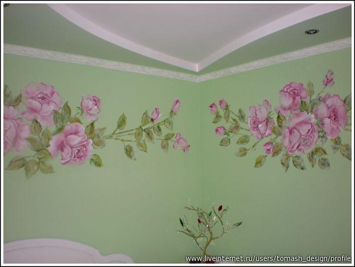 Роспись стен и мебели в женской спальне. Мои работы.. Обсуждение на LiveInternet - Российский Сервис Онлайн-Дневников