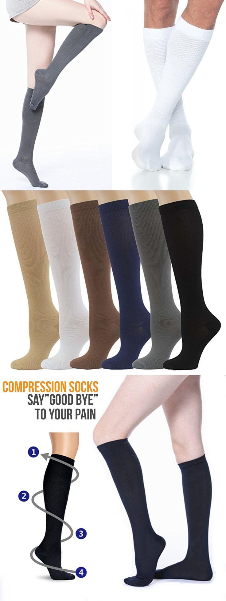 Compression Socks 20-30 mmHg Men Women Swelling Leg Stocking Plus Size