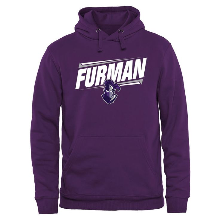 Furman Paladins Double Bar Pullover Hoodie - Purple