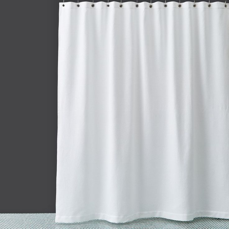 hudson park extralong waffle weave shower curtain