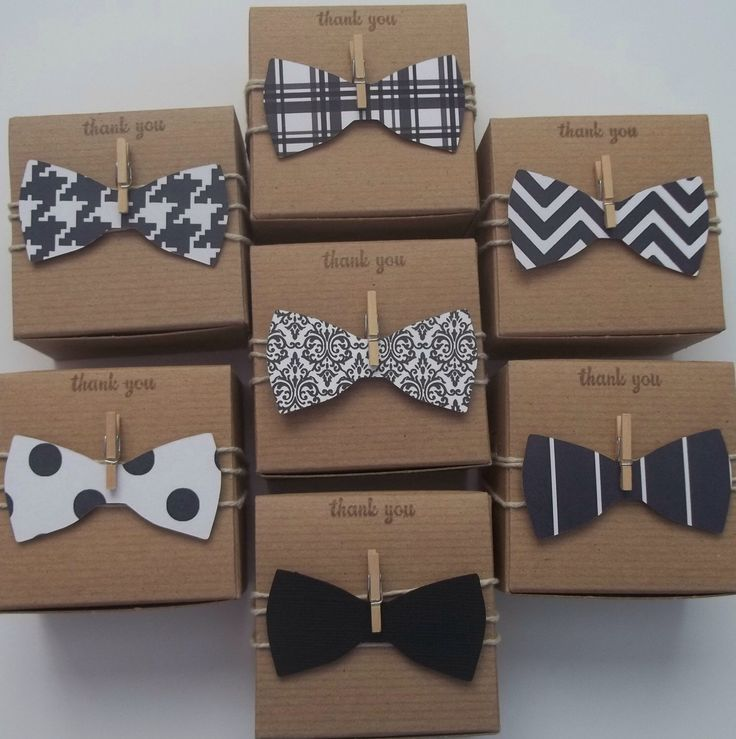 50 bow tie favor boxes Little man Little Gentleman baby shower black and white bow ties NEW by CrazyPaperLove on Etsy https://www.etsy.com/listing/166838237/50-bow-tie-favor-boxes-little-man-little