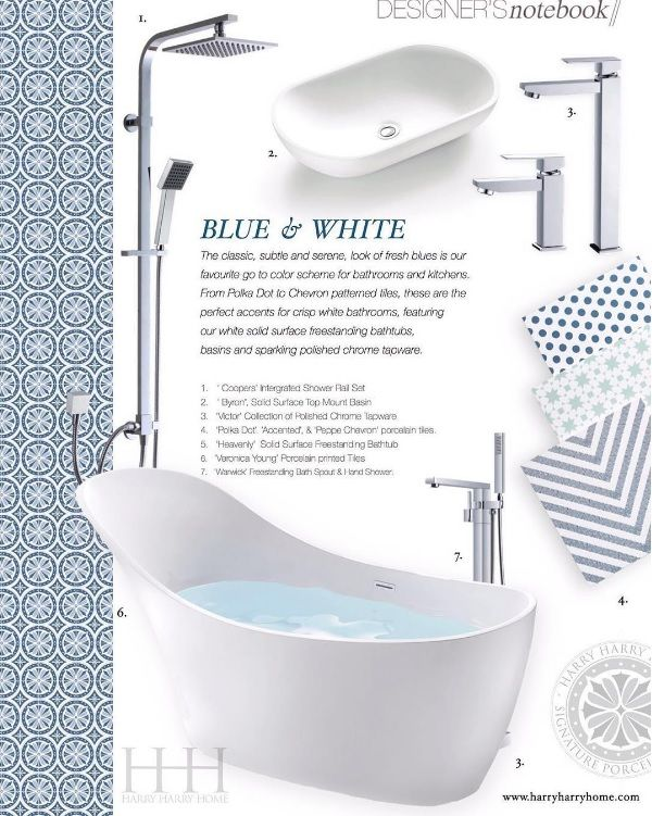 Create a bathroom oasis with these bathroom accessories available through our showroom.