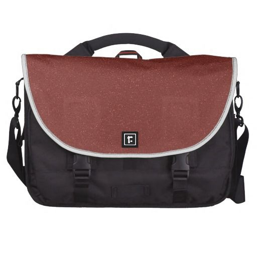 Marsala Color of the Year with faux fine Glitter Laptop Computer Bag