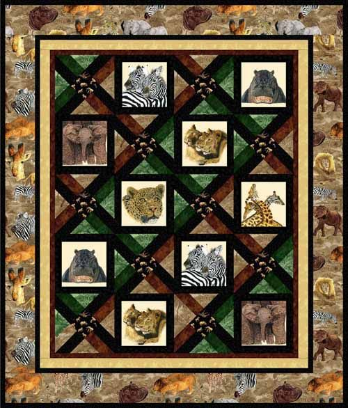 Serengeti Portraits Free Quilt Pattern Animal Quilts