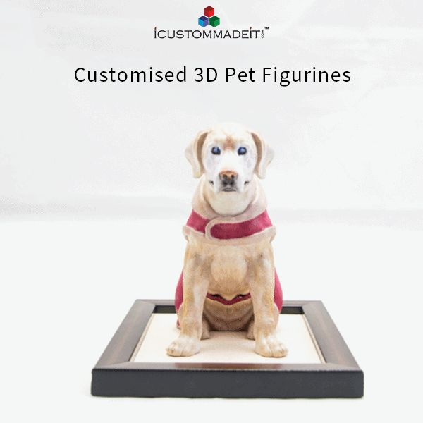 Turn your Pets photographs & selfies into life-like 3D figurines!