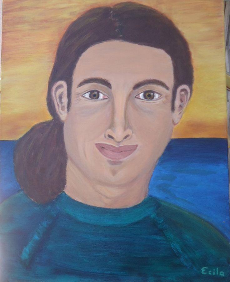 """Acrylic portrait - """"Kobi"""""""