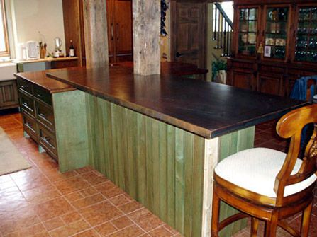 1 1 2 Patinated Copper Countertop Eased Square Edge