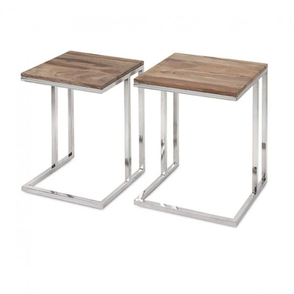 Cairo Stainless Steel Occasional Tables - Set of 2