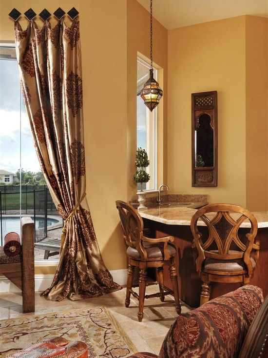Mediterranean Living Room With Curtain And Modern Carpet From Arabic  Inspiring Home Interior With Middle East