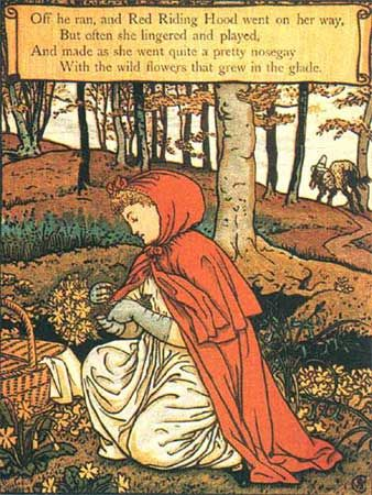 Illustrations by Walter Crane  Crane's Little Red Riding Hood
