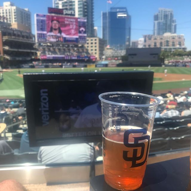 Sculpin with a view...one of the perks of being a client of our law firm.  #ballastpoint #sculpin #sandiegobeer #sandiego #padres #sandiego #sandiegoconnection #sdlocals #sandiegolocals - posted by Bullets2Bandages https://www.instagram.com/bullets2bandages. See more San Diego Beer at http://sdconnection.com
