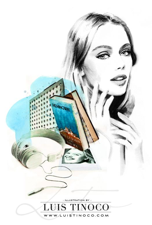 "MAYBELLINE NYC GUIDE 2014 ""BCKSTG"" Frida Gustavsson Portrait ILLUSTRATION by LUIS TINOCO http://www.luistinoco.com/"