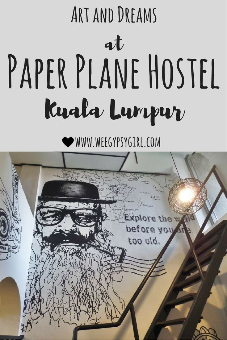 At Paper Plane Hostel, in the heart of Kuala Lumpur you can sleep in art! Set in a 100 year old colonial building, this is the best place to stay in KL!