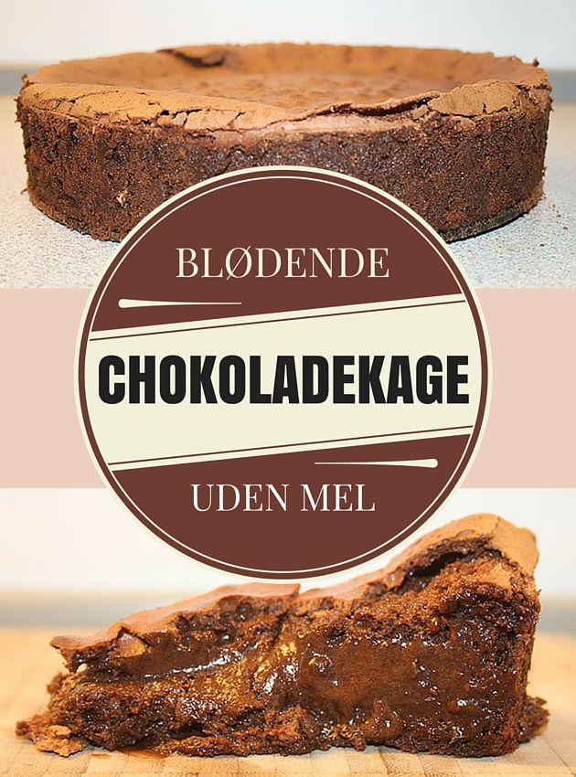 Helt fantastisk chokoladekage med en uimodståelig flydende midte. Kun fem ingredienser skal der bruges (Recipe in Danish)