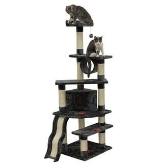 Kitty Mansions Shanghai Cat Tree Condo - 13734770 - Overstock.com Shopping - The Best Prices on Kitty Mansions Cat Furniture