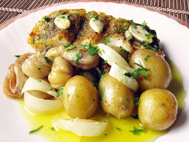 Bacalhau com Castanhas | Portuguese codfish with chestnuts recipe | Saudades de Portugal