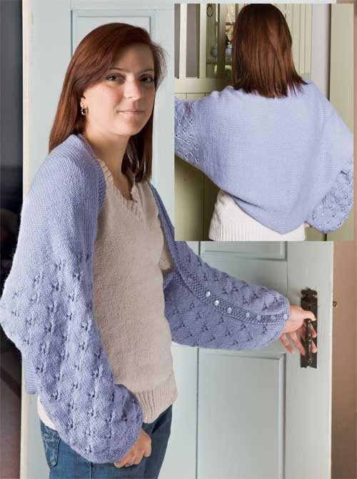 Contemporary Knit Shrug Pattern Easy Ornament - Knitting Pattern ...