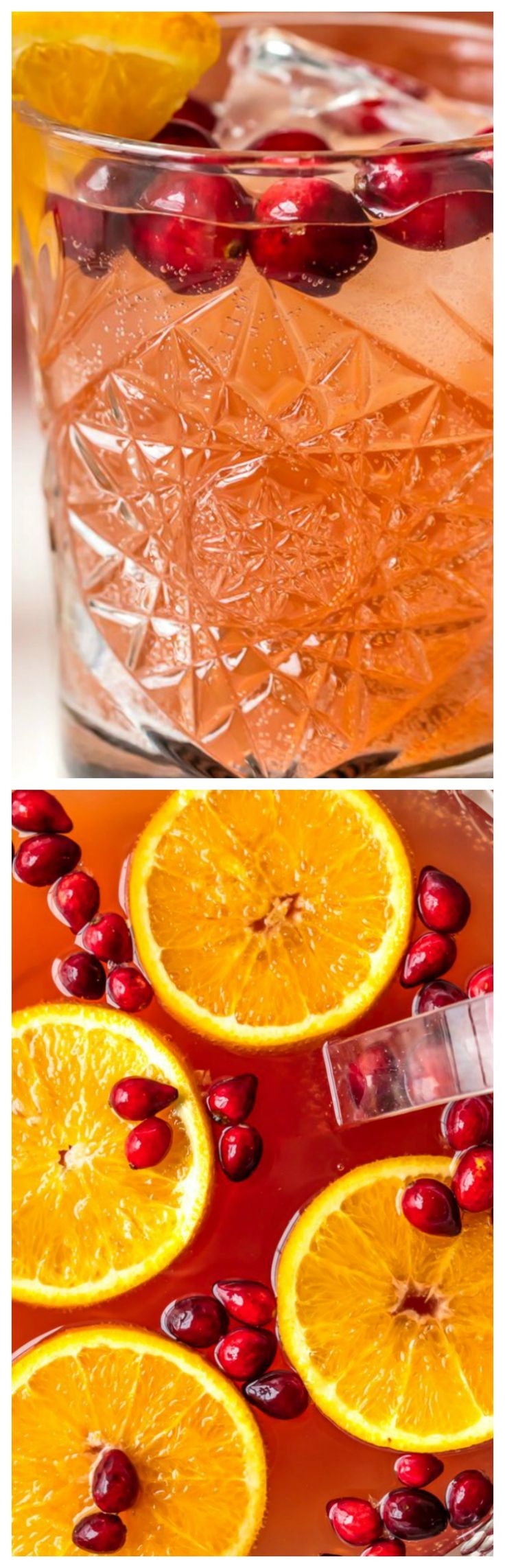 Easy Holiday Punch ~ Perfect for Thanksgiving and Christmas... Cranberry Juice, Orange Juice, Ginger Ale, Sparkling Cider and more!