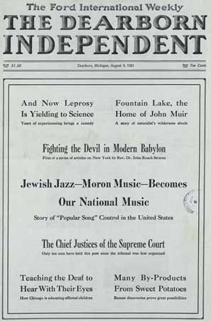 TIL Henry Ford was an anti Semite who wrote International Jew and caused some Germans to become anti Semitic after reading this book.