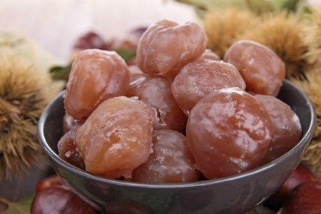 #recette des marrons (chataignes) glacés !