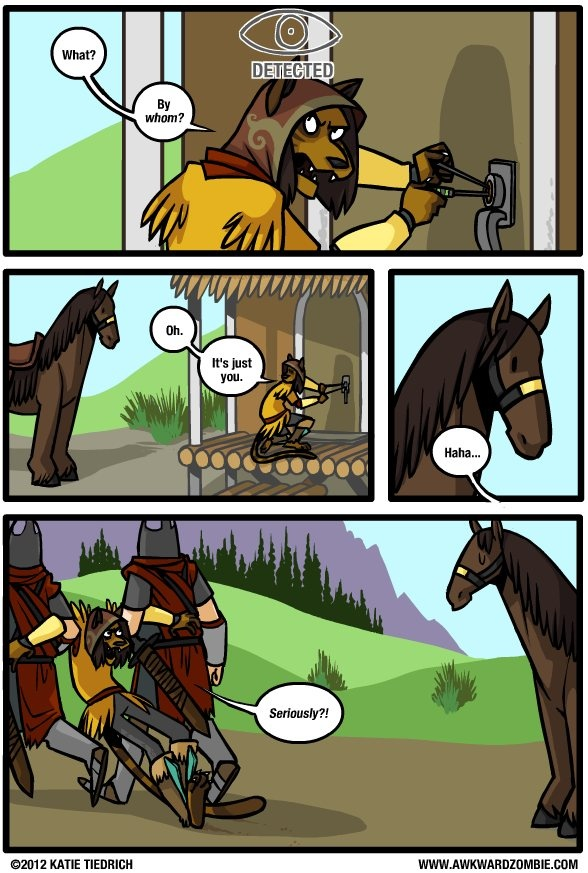 When you forget to park your horse in the other direction :P #skyrim #dawnguard #hearthfire