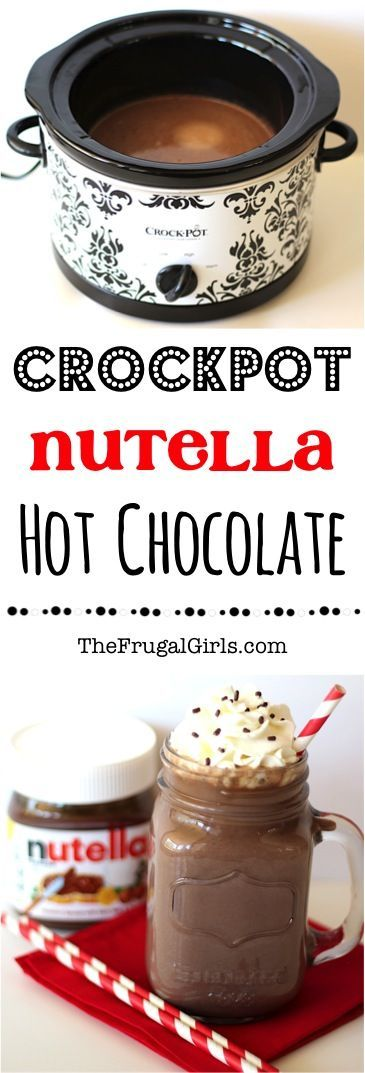 Crockpot Nutella Hot Chocolate Recipe! ~ from TheFrugalGirls.com ~ this Crock Pot Hot Chocolate is beyond DELICIOUS... and so fun at Parties and Holidays! #cocoa #slowcooker #recipes #thefrugalgirls