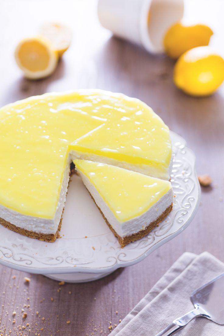 Dolce o sorbetto? Con la #cheesecake al #limone non dovrete più scegliere, il…