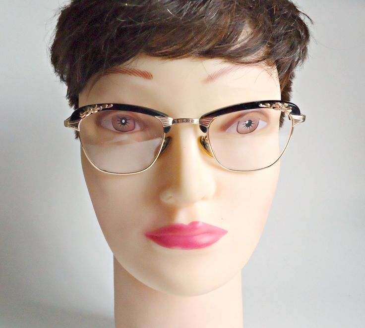 Vintage Eyeglass Frames Gold Filled  Size 5 1/2 Frames 1950's Steampunk by treasurecoveally on Etsy