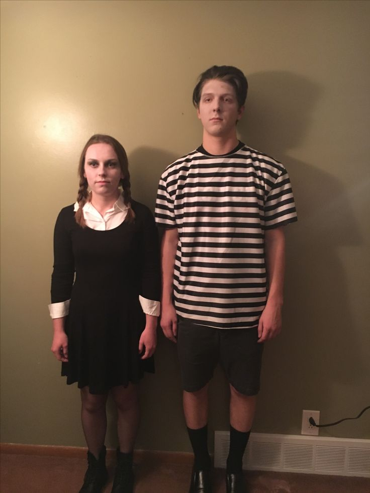 Wednesday and Pugsley Addams costumes DIY