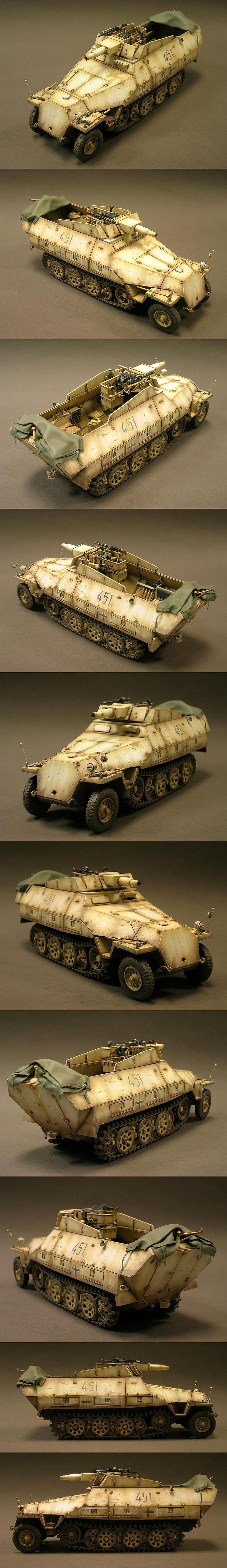 i like this www.airfixmodels.co.uk SdKfz 251/9 1/35 Scale Model