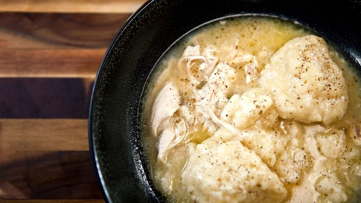 I just discovered this amazing recipe Chicken and Dumplings on Panna by Chef Sean Brock!