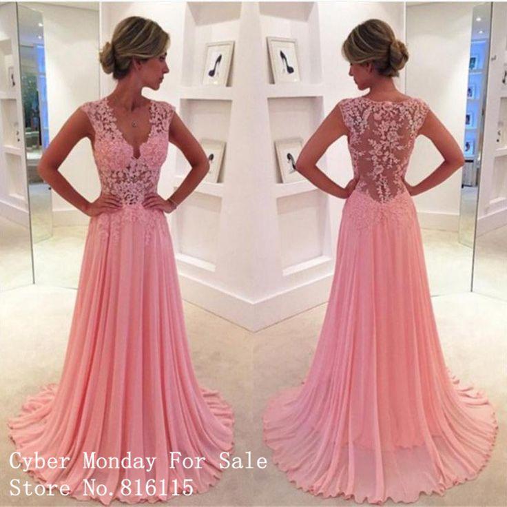 Rosa kleid v ausschnitt