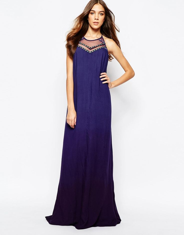 Fallen Star Layered Maxi Dress with Tapestry Tape Detail