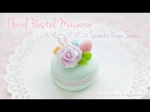 Gorgeous french macaroon tutorial. Tutorial is for cold porcelain clay, but I'm sure it would work in polymer clay as well :)