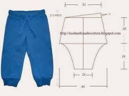 Resultado de imagen para pantalones para niños moldes
