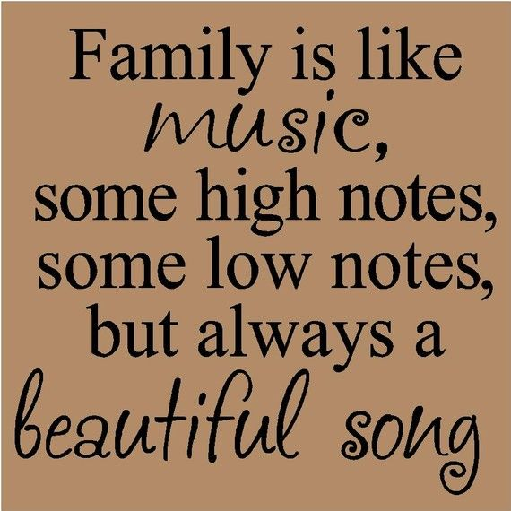 T14- Family is like music, some high notes some low notes...12x12 vinyl wall art decals lettering words home decor sayings quote stickers