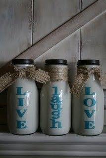 starbucks bottles, but i'd use tea bottles