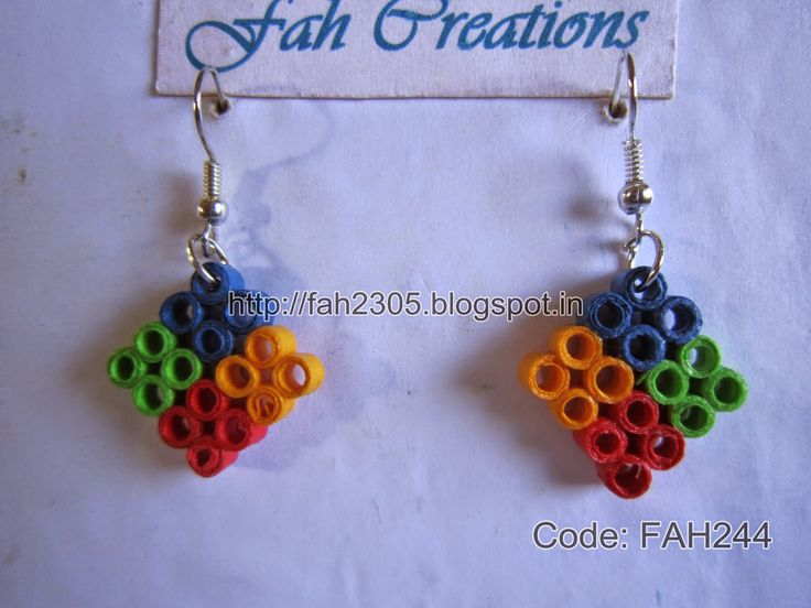 This is a very simple quilling design by me. Some of my relative call it windows earrings. However, I have named it Four Square Earrings.