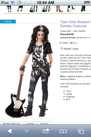Rocked out zombie