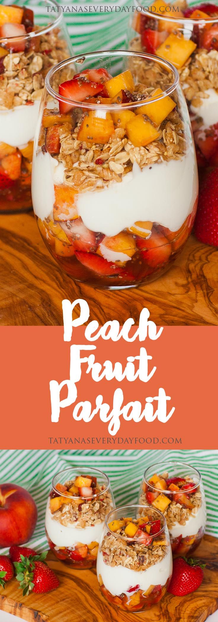 This super easy recipe for 'Peach Fruit Parfaits' doubles as a healthy, summer-time dessert and breakfast! For these fruit cups, I'm combining peaches and strawberries, coating them in honey and adding chia seeds! Feel free to add your favorite summer-time fruit to the mix. If you're making these ahead of time for breakfast, add the […]