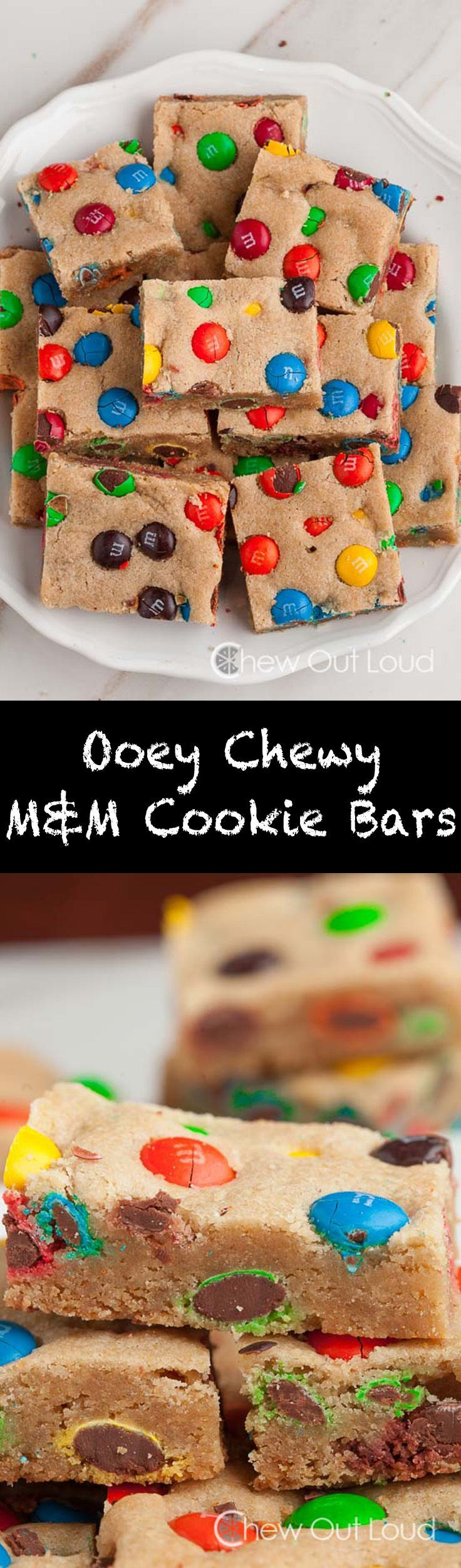 These are everyone's favorite at every potluck, picnic, party...everywhere, basically. Chewy yum. #m&m #cookie #recipe