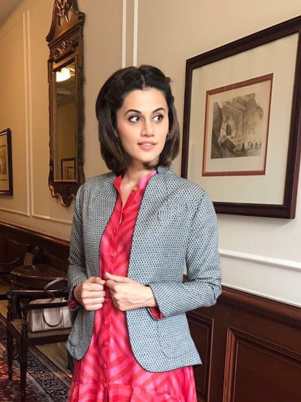 Taapsee Pannu carries this chic summer jacket by Amoh with poise and panache!