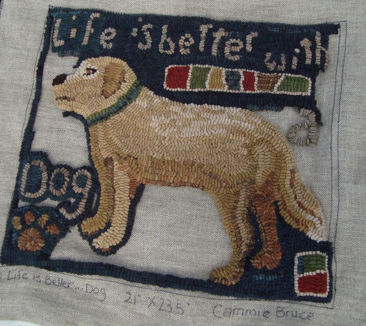 "Dog Hooked Rugs: 954 Best ""cat & Dog"" Hooked Rugs Images On Pinterest"